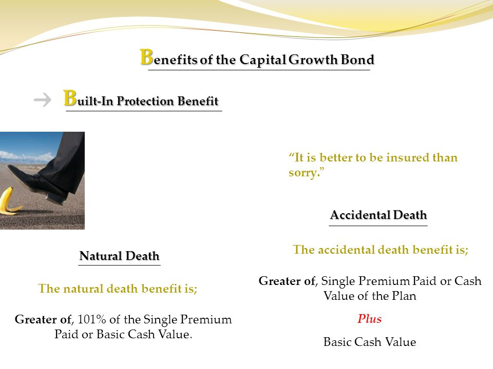 Benefits of the Capital Growth Bond