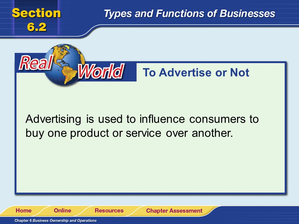 To Advertise or Not Advertising is used to influence consumers to buy one product or service over another.