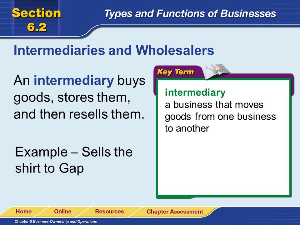 Intermediaries and Wholesalers