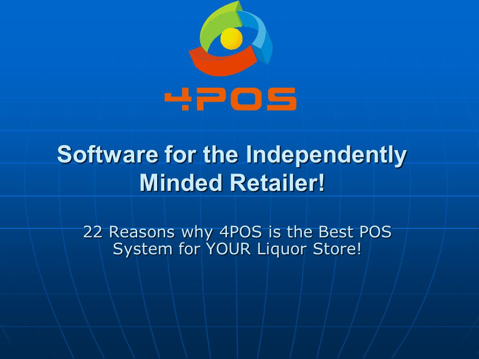 Software for the Independently Minded Retailer!