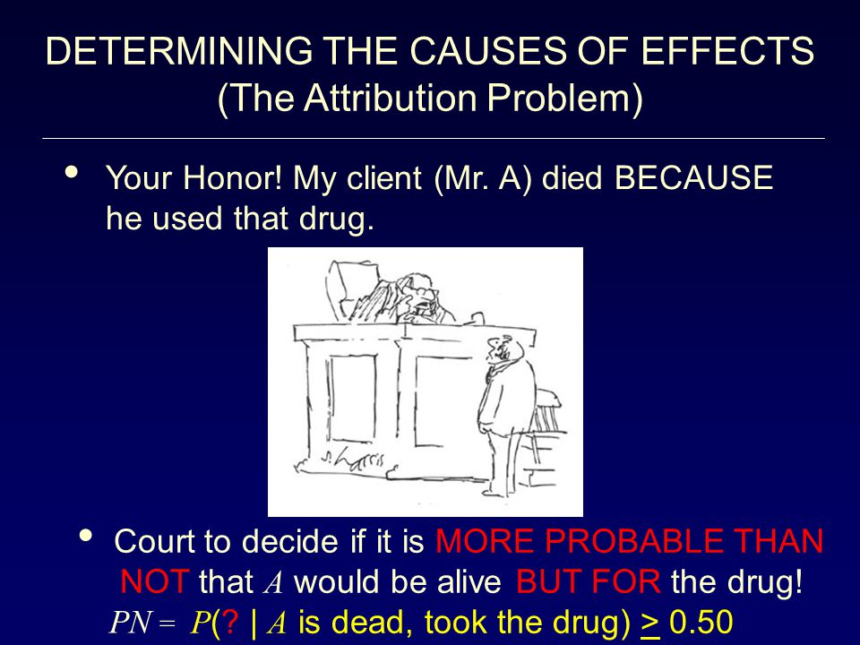 DETERMINING THE CAUSES OF EFFECTS (The Attribution Problem)