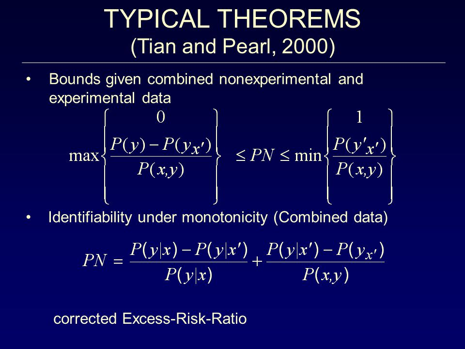 TYPICAL THEOREMS (Tian and Pearl, 2000)