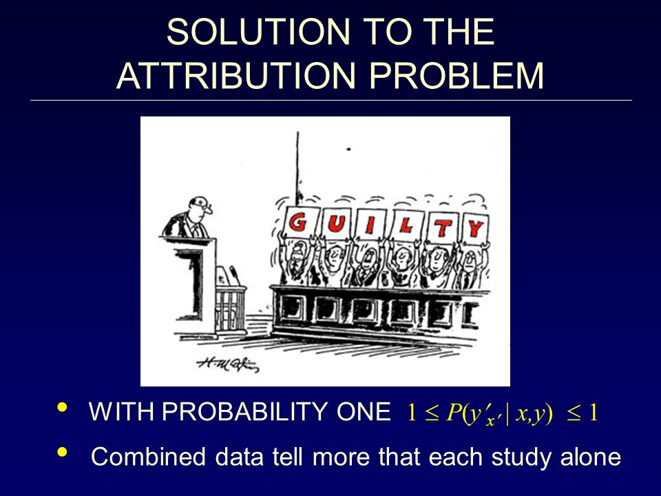 SOLUTION TO THE ATTRIBUTION PROBLEM
