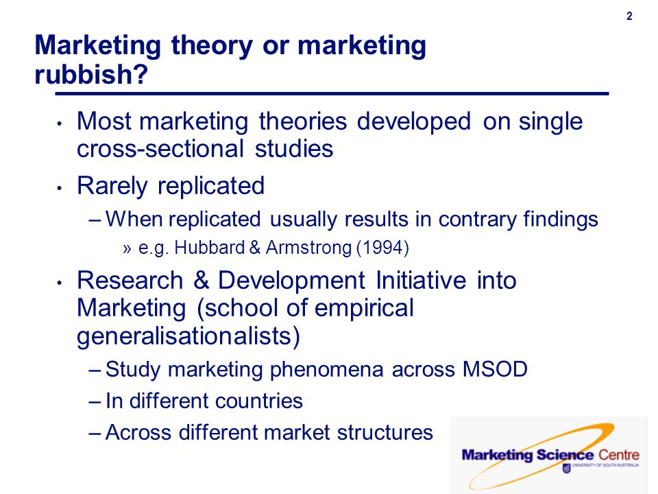 Marketing theory or marketing rubbish