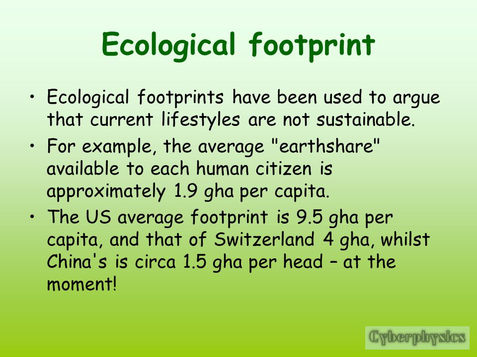 Y10 Physics Notes - Carbon Footprint