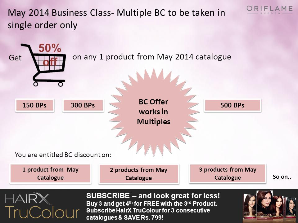 May 2014 Business Class- Multiple BC to be taken in single order only
