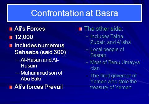 Confrontation at Basra