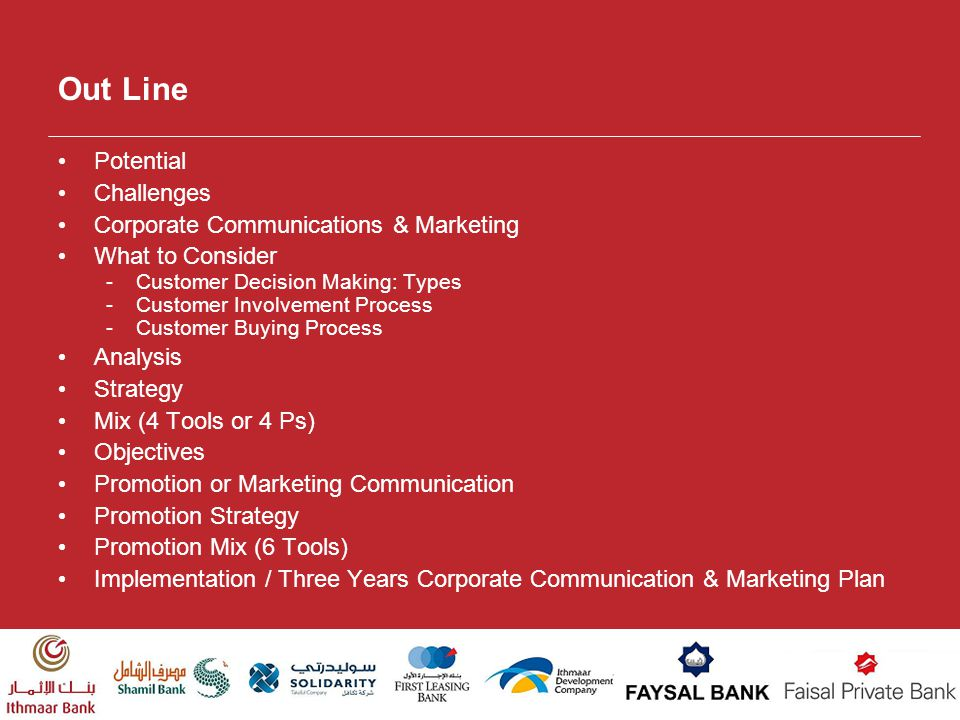 Out Line Potential Challenges Corporate Communications & Marketing