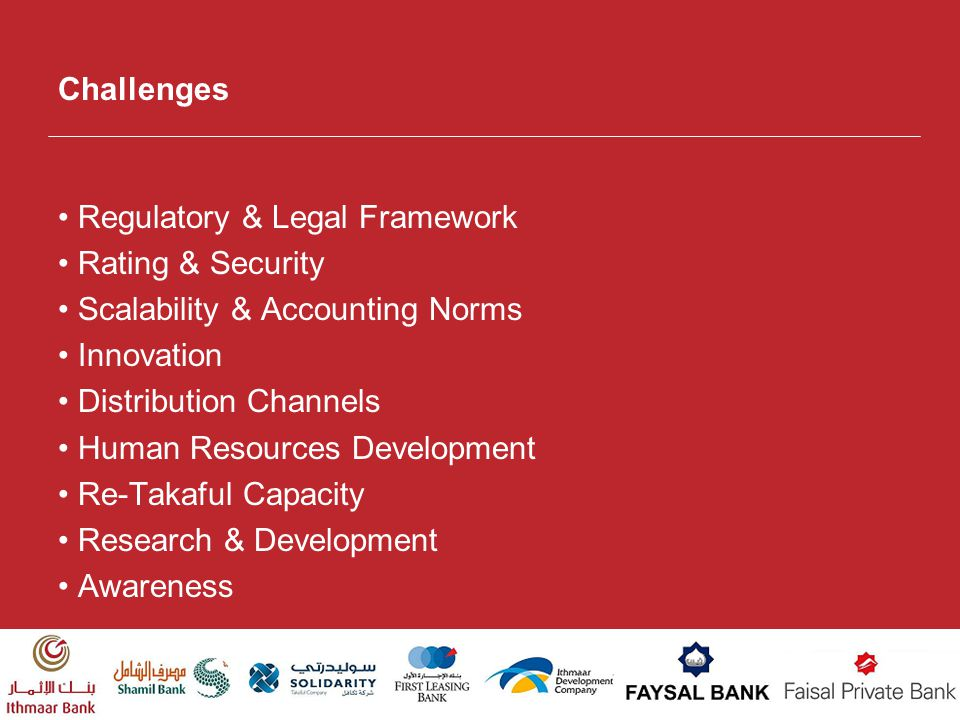 Challenges • Regulatory & Legal Framework. • Rating & Security. • Scalability & Accounting Norms.