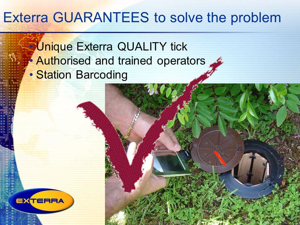Exterra GUARANTEES to solve the problem