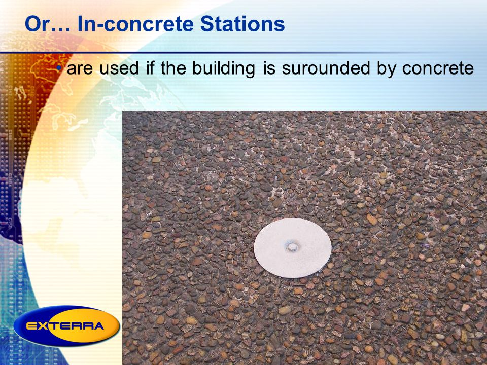 Or… In-concrete Stations