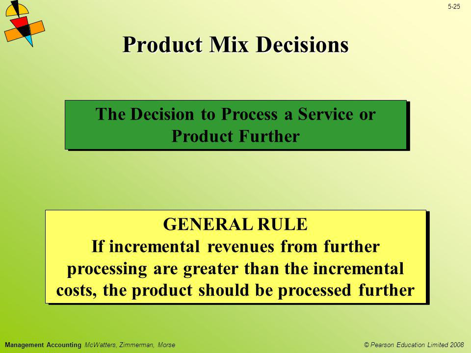 The Decision to Process a Service or Product Further