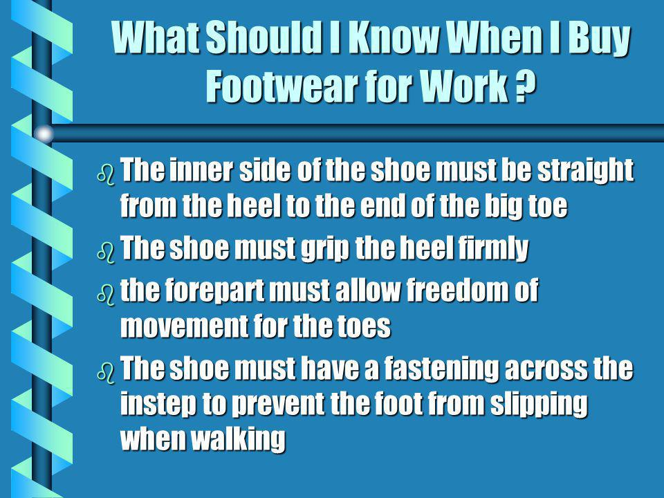 What Should I Know When I Buy Footwear for Work