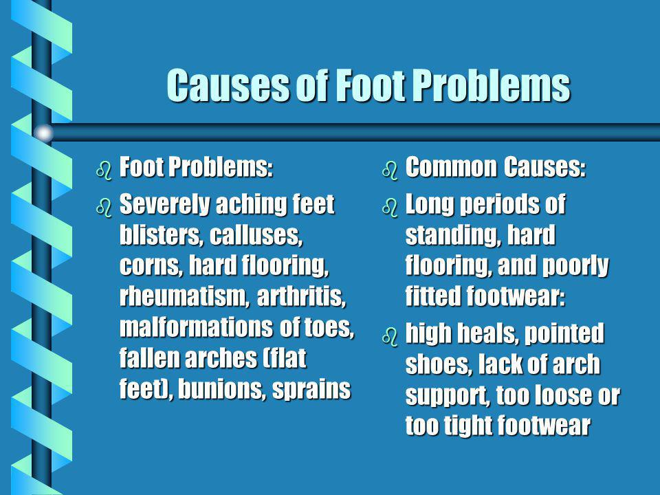 Causes of Foot Problems