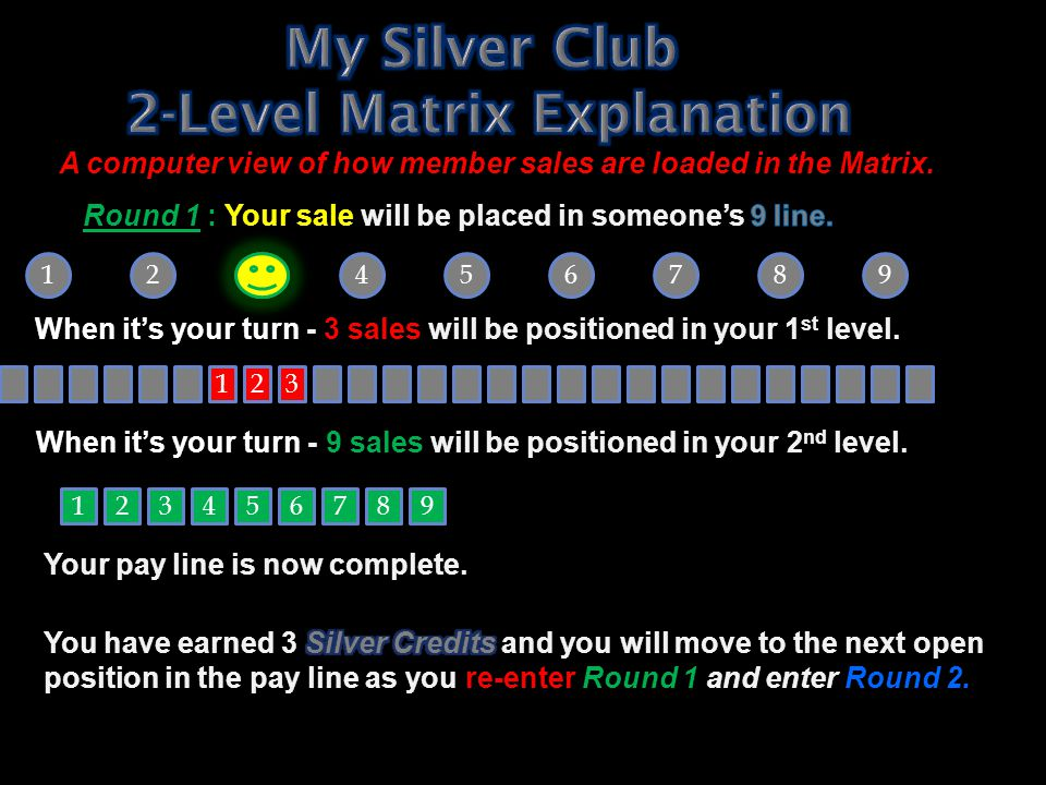 My Silver Club 2-Level Matrix Explanation