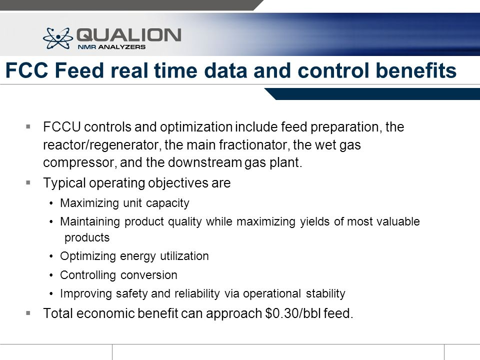 FCC Feed real time data and control benefits