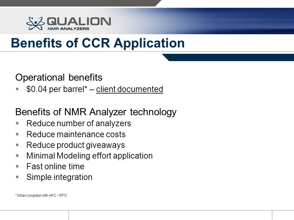 Benefits of CCR Application
