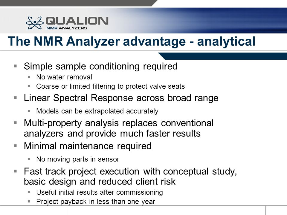 The NMR Analyzer advantage - analytical