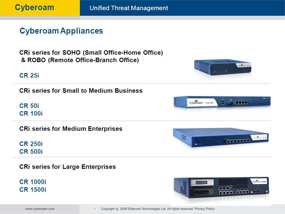 Cyberoam Appliances CRi series for SOHO (Small Office-Home Office)