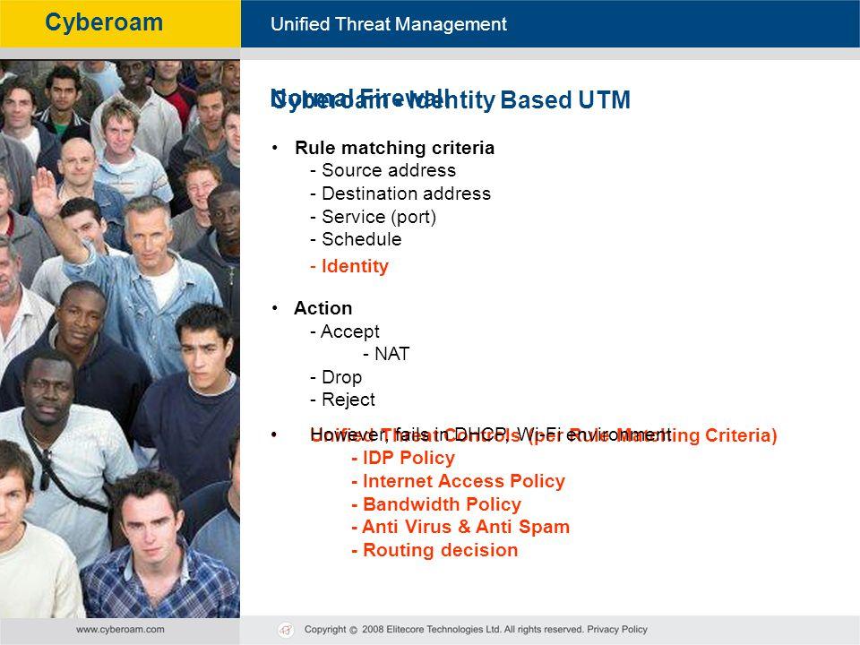 Cyberoam - Identity Based UTM Normal Firewall