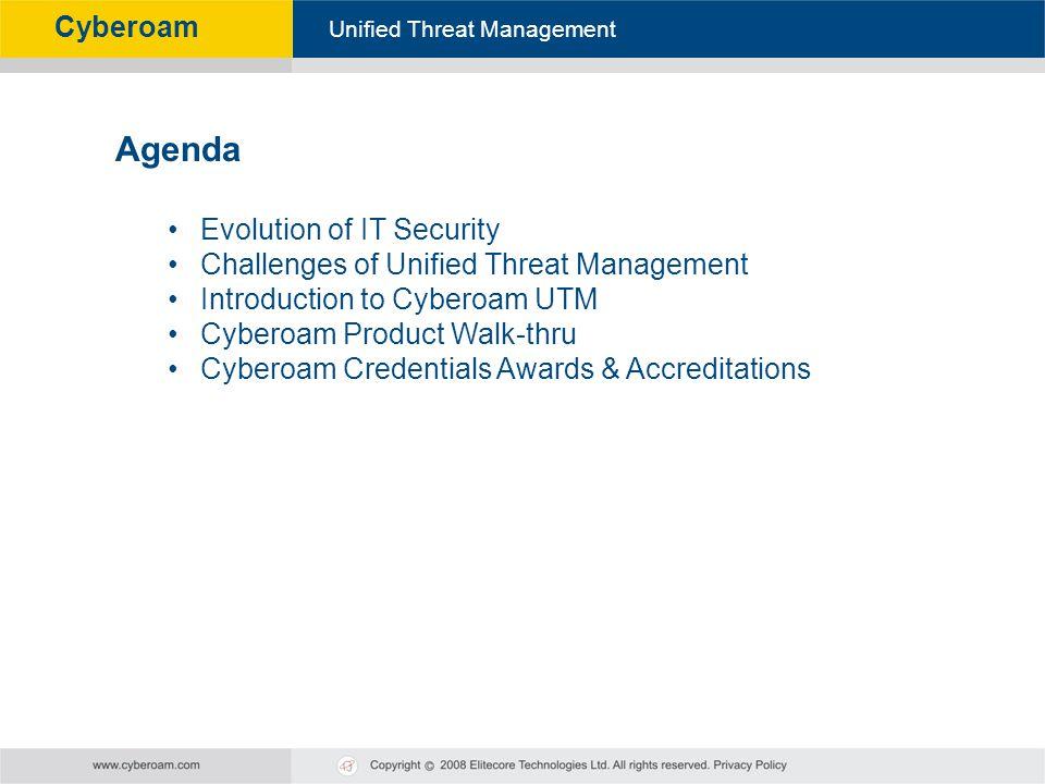 Agenda Evolution of IT Security