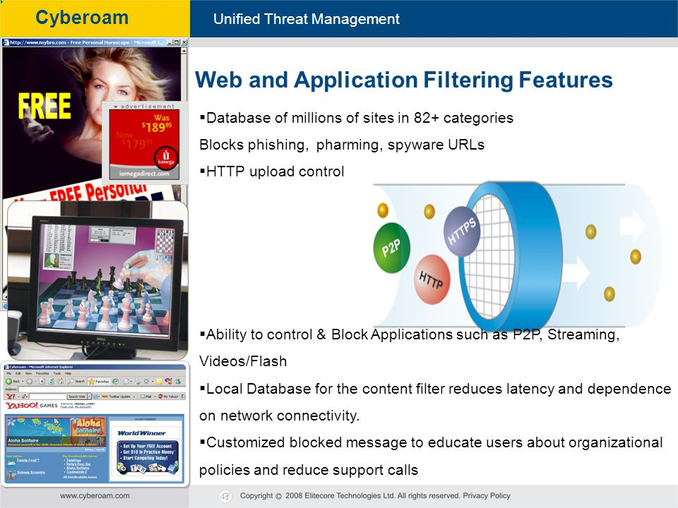 Web and Application Filtering Features