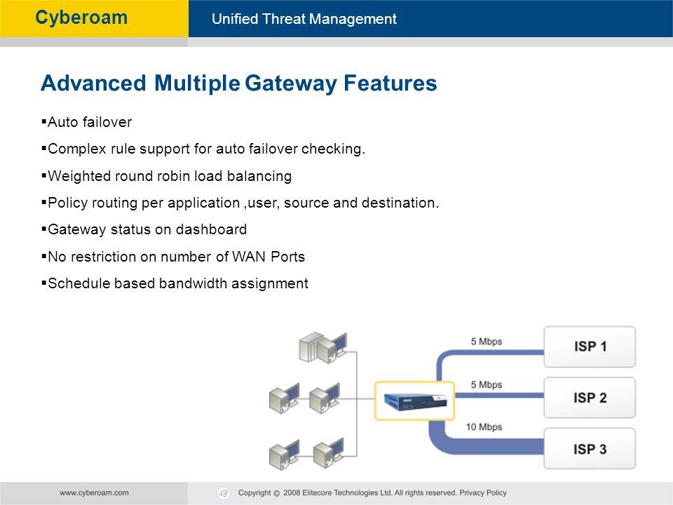 Advanced Multiple Gateway Features