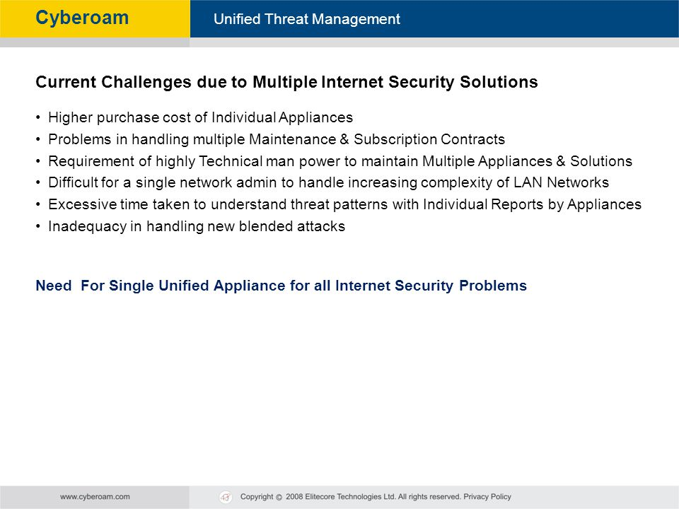 Current Challenges due to Multiple Internet Security Solutions