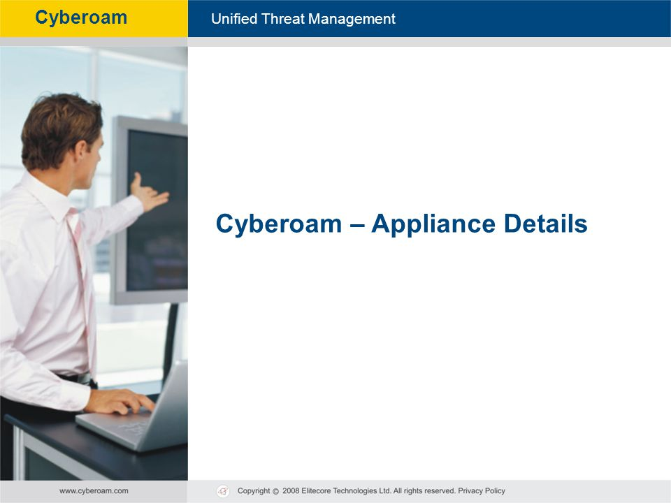 Cyberoam – Appliance Details