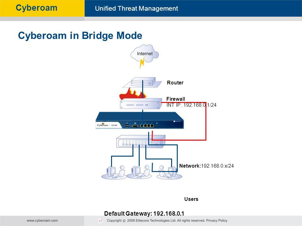 Cyberoam in Bridge Mode