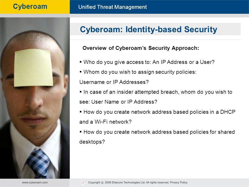Cyberoam: Identity-based Security