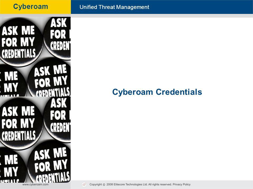 Cyberoam Credentials 63