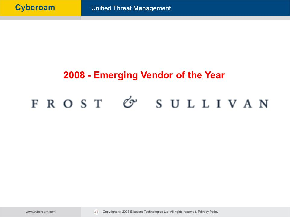 2008 - Emerging Vendor of the Year