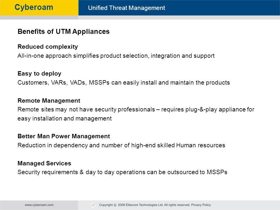 Benefits of UTM Appliances