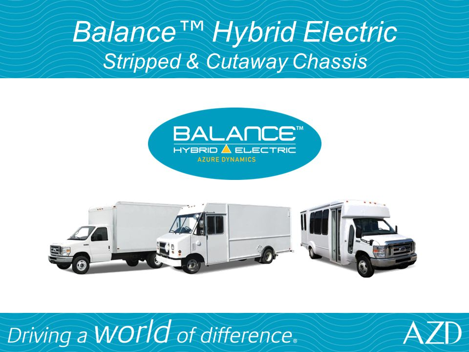 Balance™ Hybrid Electric Stripped & Cutaway Chassis