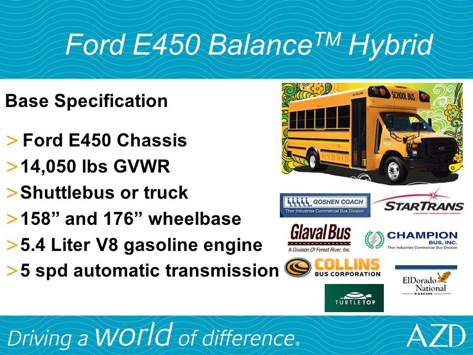 Ford E450 BalanceTM Hybrid