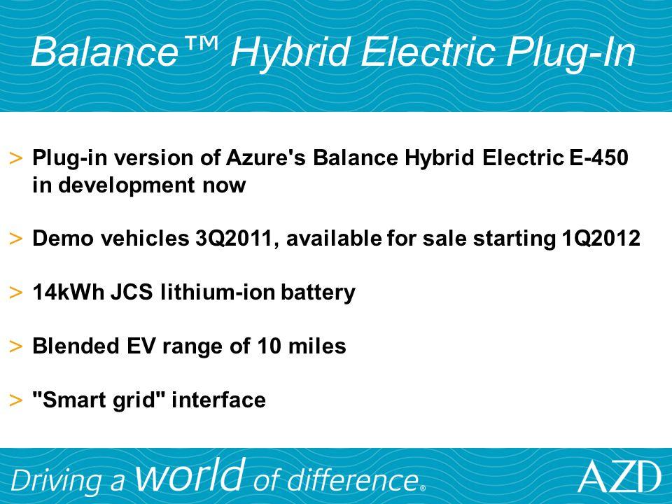 Balance™ Hybrid Electric Plug-In