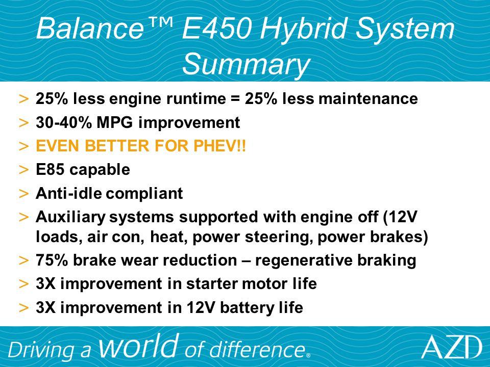 Balance™ E450 Hybrid System Summary