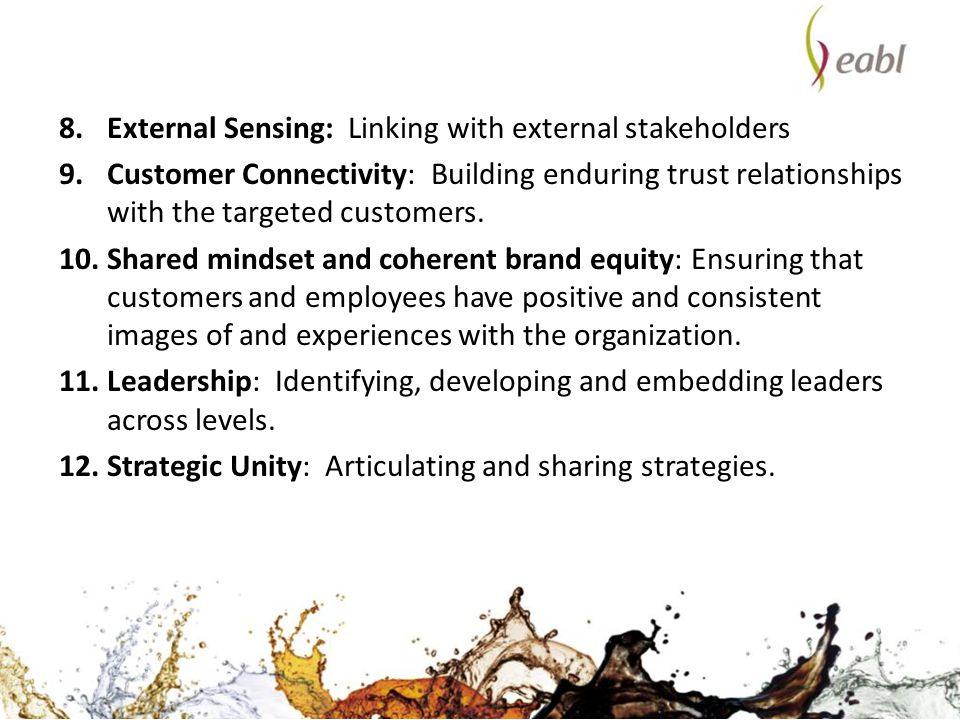 External Sensing: Linking with external stakeholders