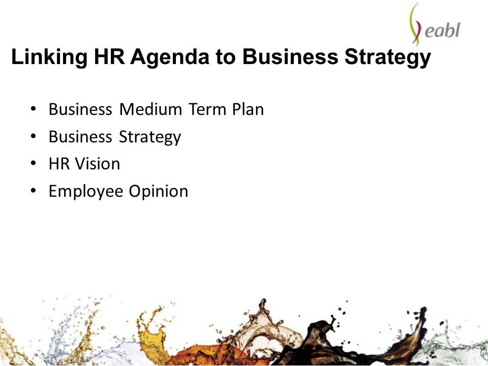Linking HR Agenda to Business Strategy