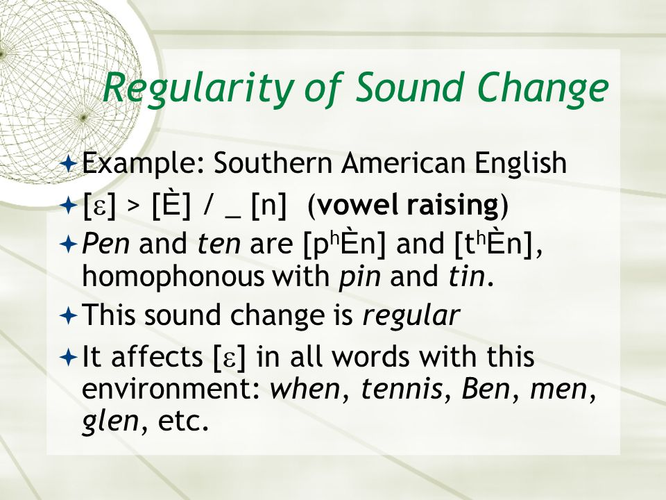 Regularity of Sound Change