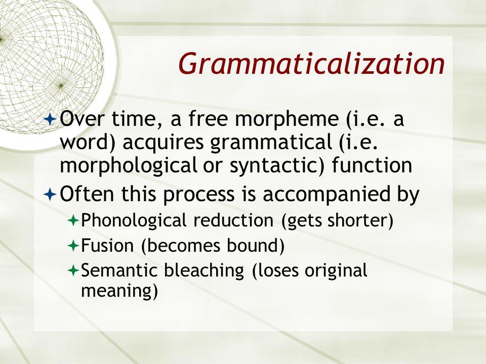 Asian 401 May 11, 2005. Grammaticalization.