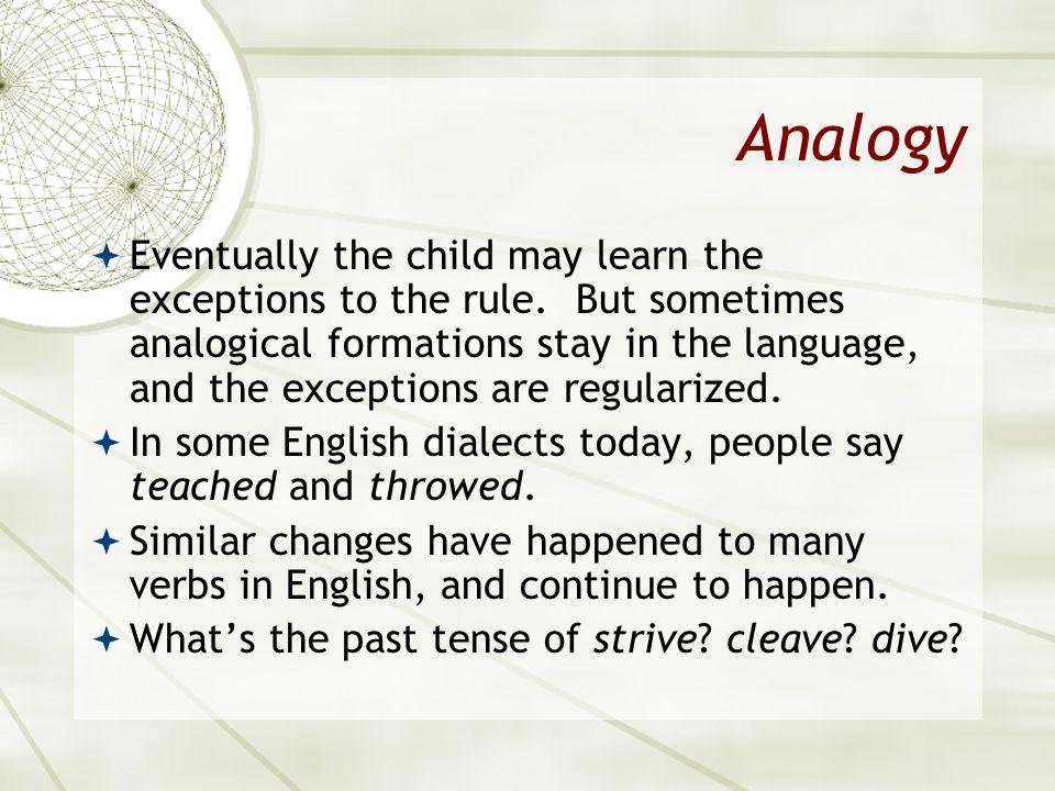 Asian 401 May 11, 2005. Analogy.