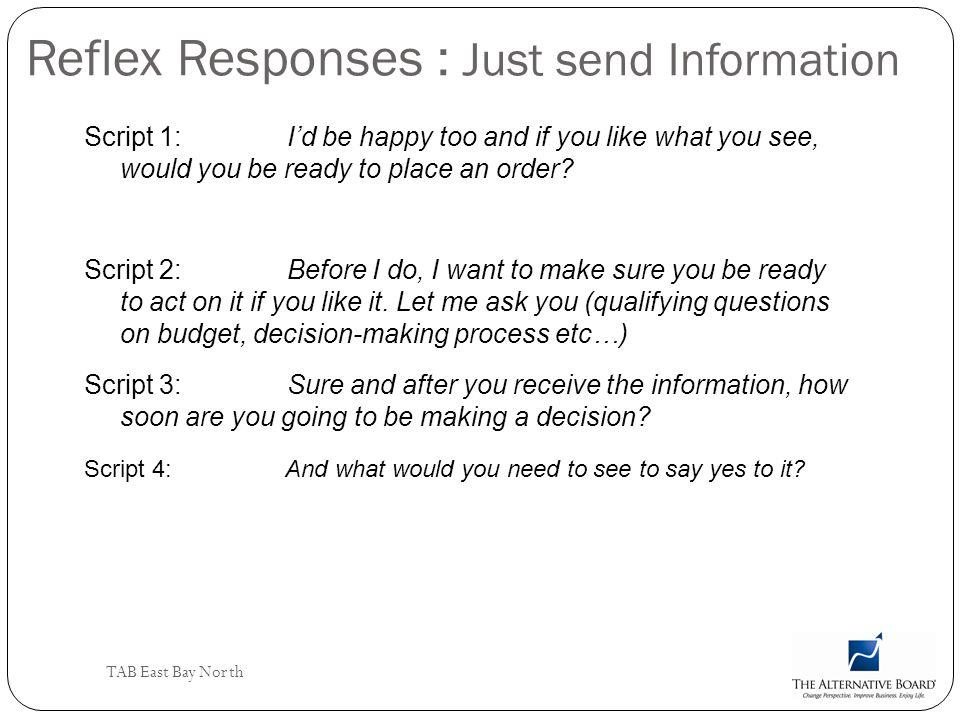Reflex Responses : Just send Information