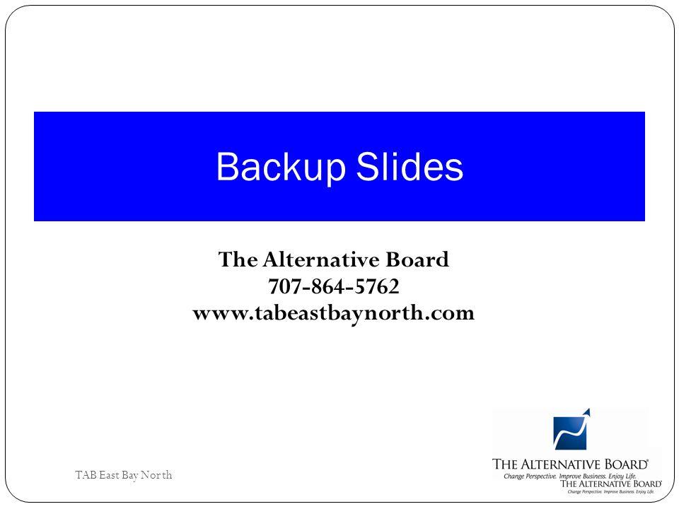 The Alternative Board 707-864-5762 www.tabeastbaynorth.com