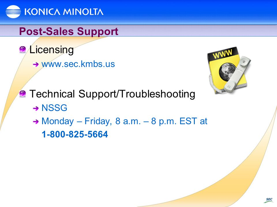 Technical Support/Troubleshooting