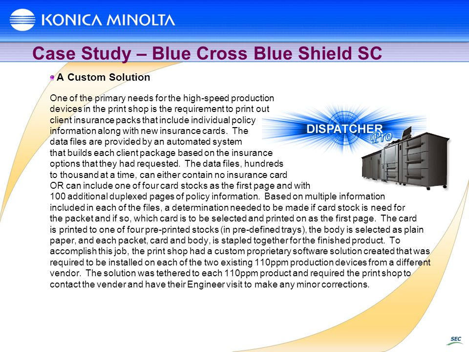 Case Study – Blue Cross Blue Shield SC