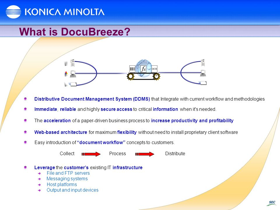 What is DocuBreeze Distributive Document Management System (DDMS) that Integrate with current workflow and methodologies.