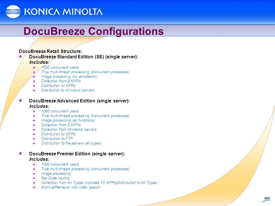 DocuBreeze Configurations
