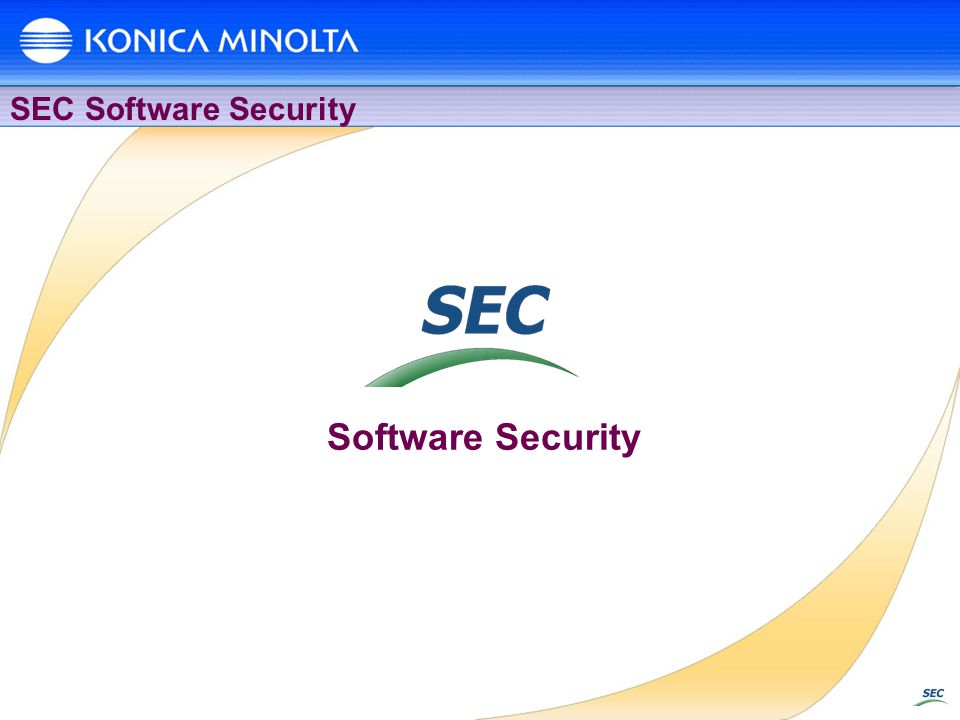 Software Security SEC Software Security